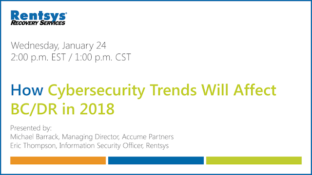 Webinar: How Cybersecurity Trends Will Affect BC/DR in 2018