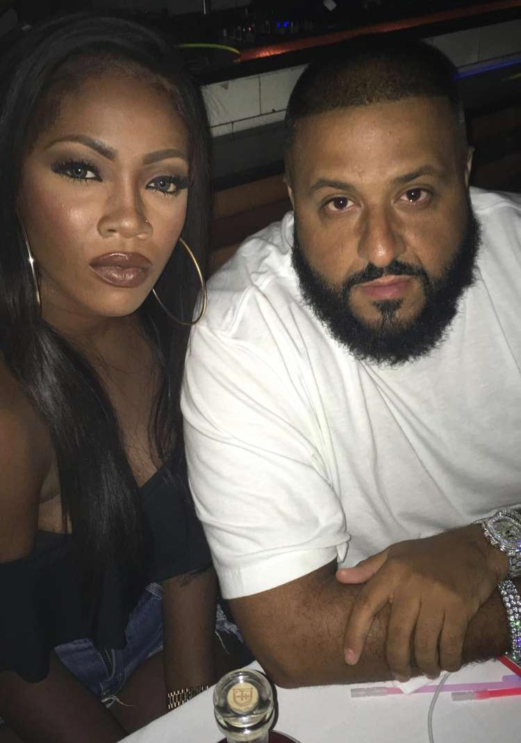 Major key alert? Tiwa Savage pictured in New York nightclub with DJ Khaled
