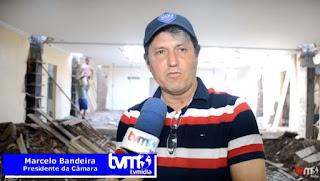 À TV MÍDIA! Marcelo Bandeira expõe obras de reforma da CM de Guarabira