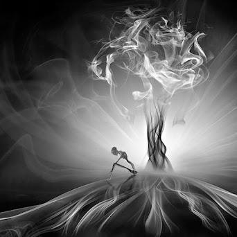 Mehmet Ozgur convierte el humo en arte