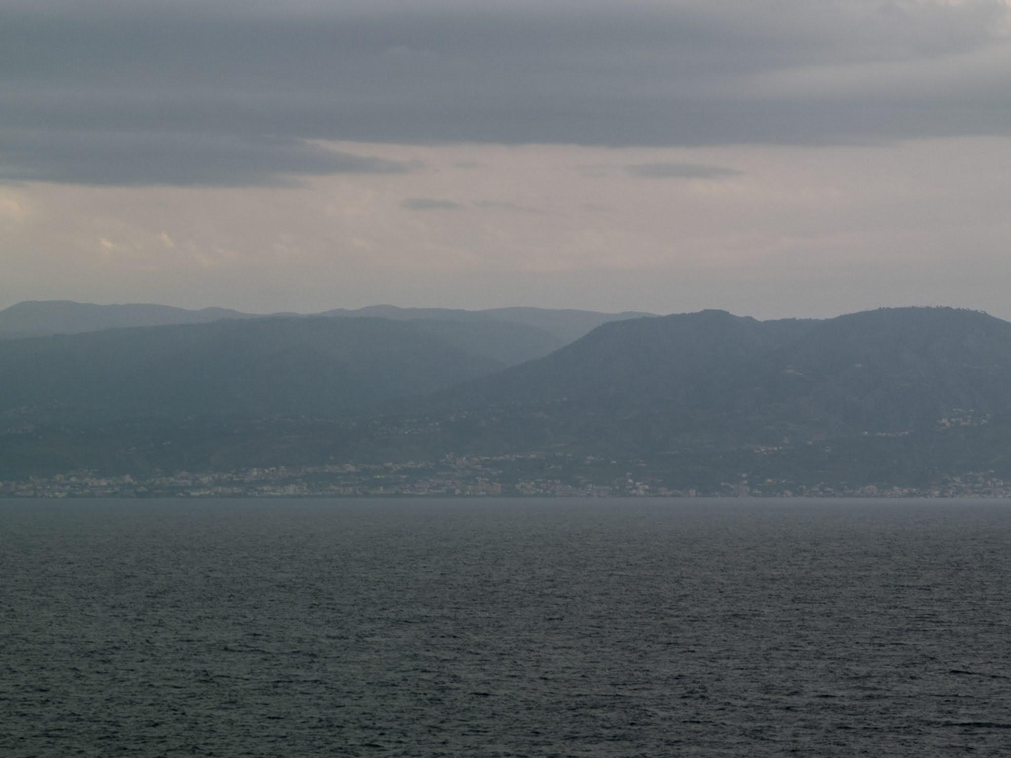 Mountain landscape on the coast of the Mediterranean sea.