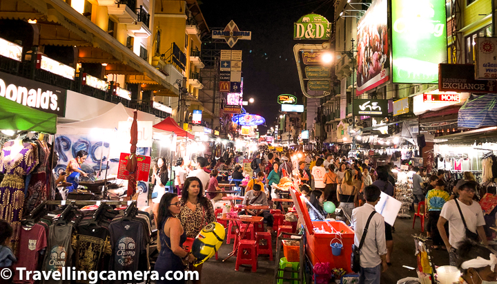 In grand scheme, Thailand is not very expensive place so to enjoy places like Khao San Road in Bangkok it's better to ignore smaller price difference and focus on fun part.