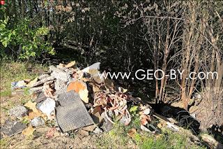 Свалка мусора на высоте 303