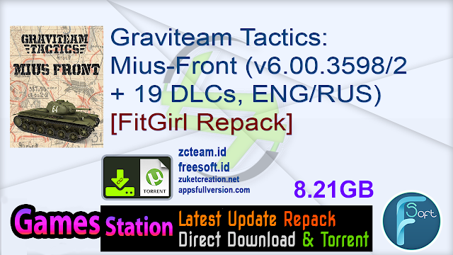 Graviteam Tactics Mius-Front (v6.00.35982 + 19 DLCs, ENGRUS) [FitGirl Repack]