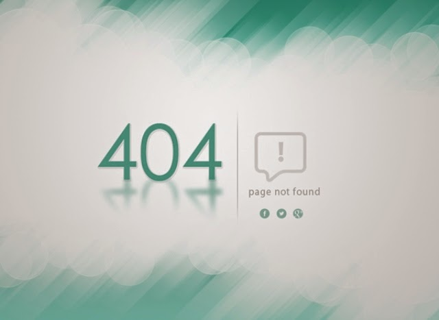 Creative 404 Error Template (PSD)