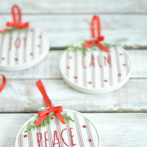 Rae Dunn Ornaments With Farmhouse Style