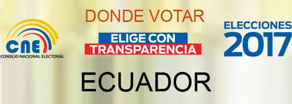 cne lugar de votacion 2017 encuestas presidenciales ecuador