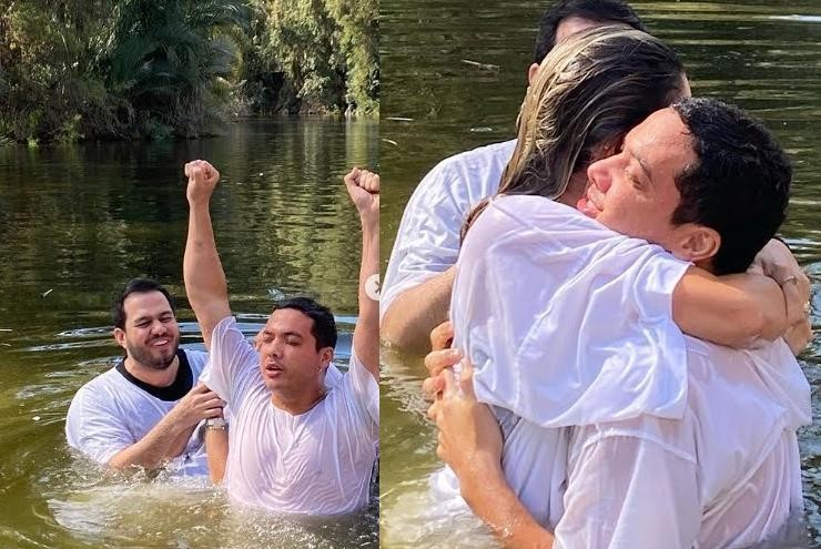 Emocionante Wesley Safadão é batizado nas águas do Rio Jordão em Israel