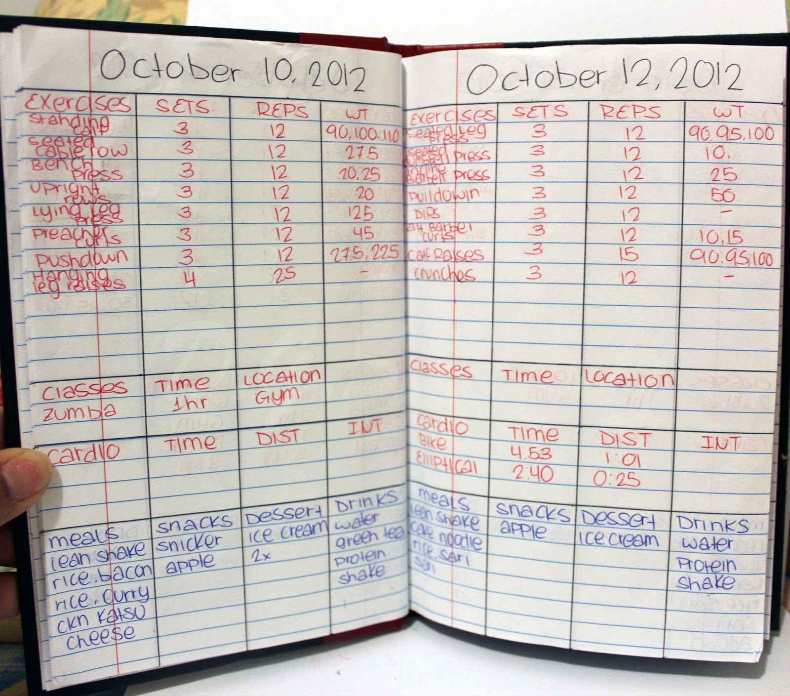 wod journal template - diy workout log book d g s beauty