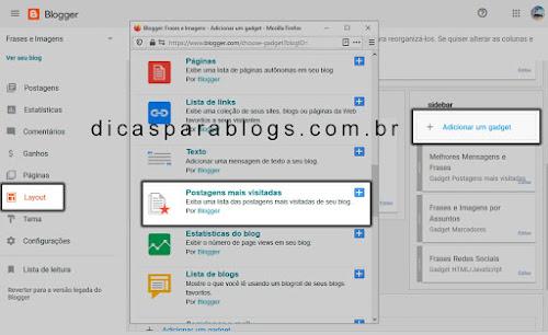 CSS Postagens Populares do Blogger