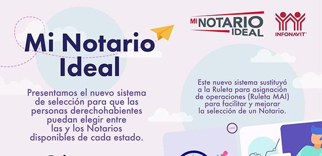 Infonavit presenta sistema para que personas acreditadas elijan a su Notario Ideal