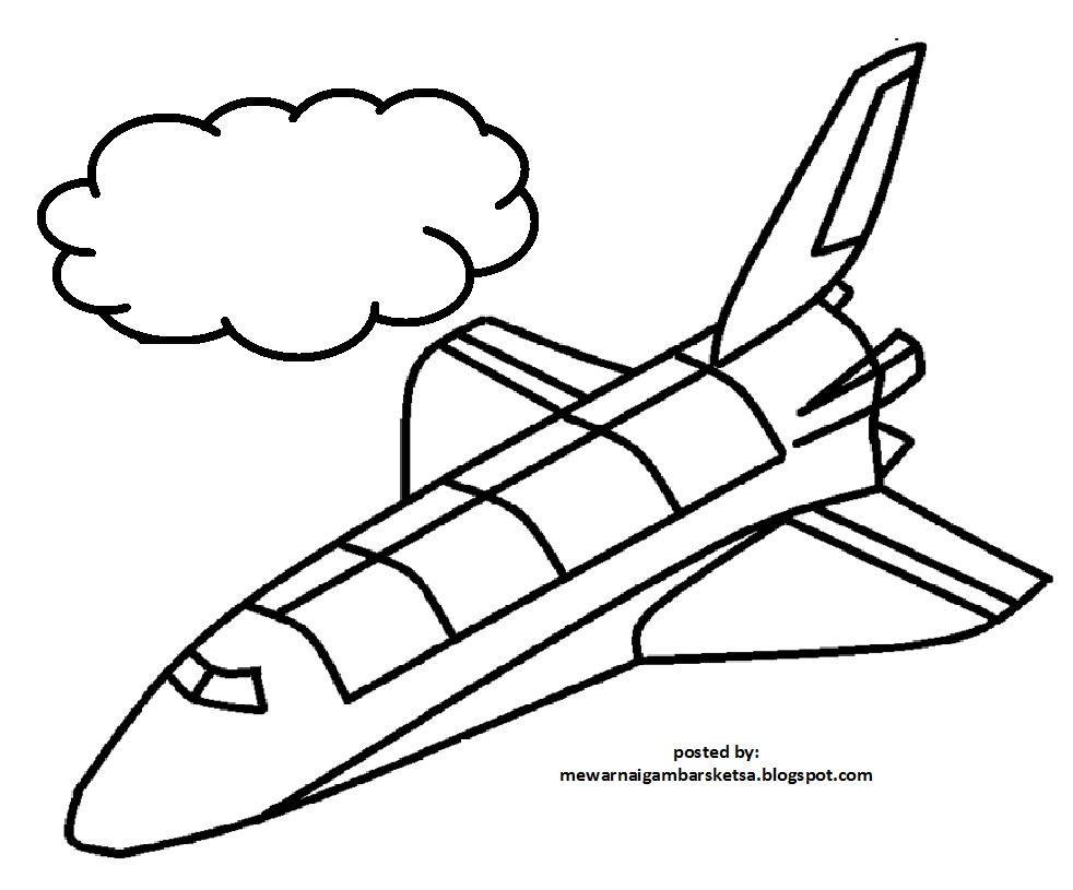 Lebih Dari 100 Mewarnai Gambar Pesawat Terbang