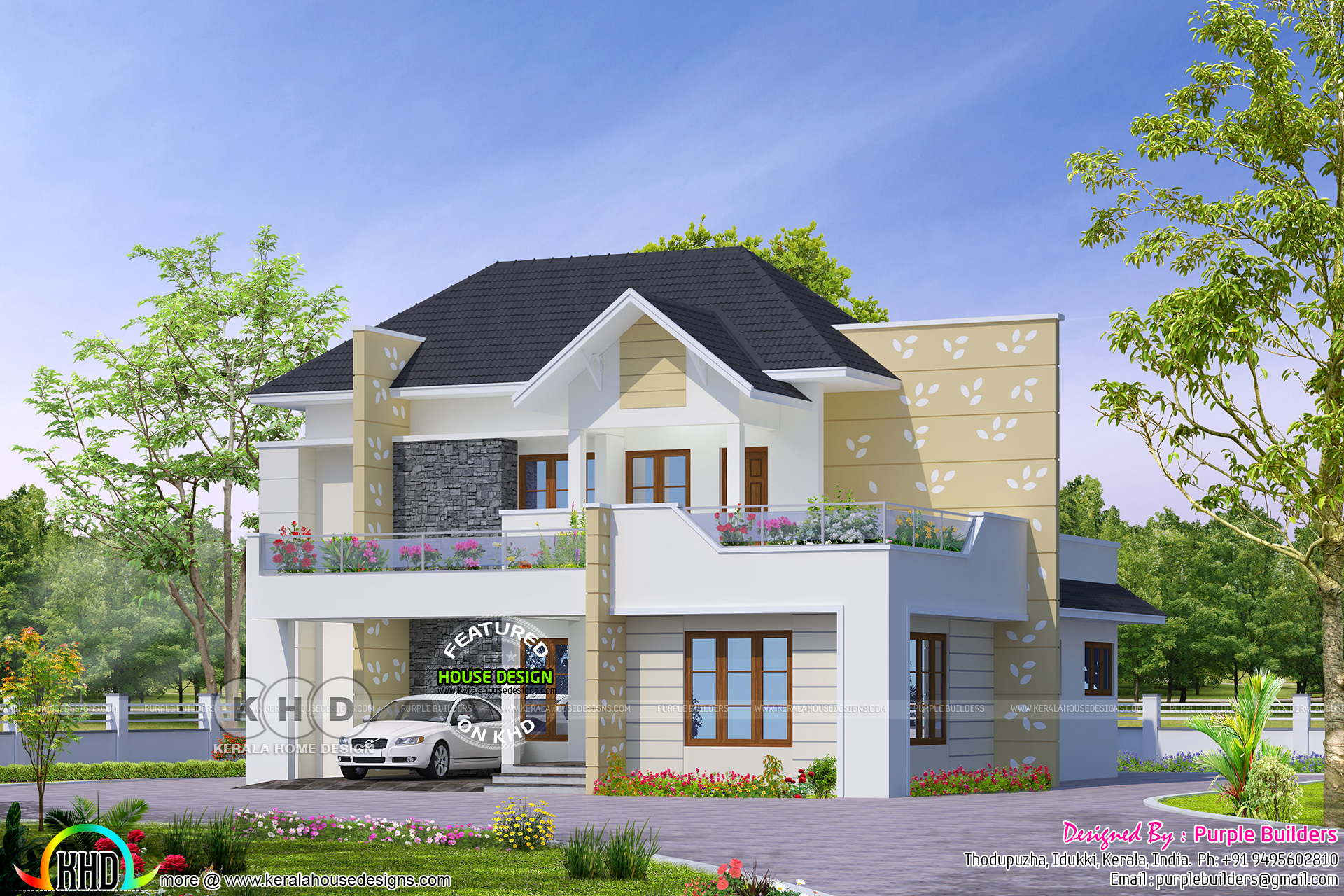 Classical style 4 bedroom grand home design kerala home for Classical style house