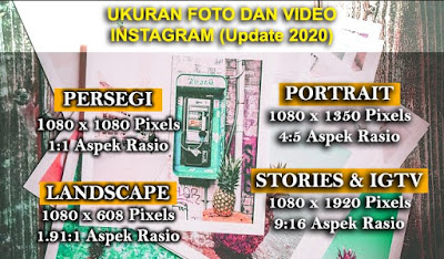 Ukuran Foto dan video Instagram (Update 2020)