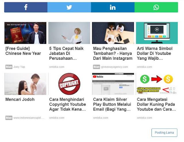 Cara Memasang Iklan Matched Content Di Blog Dengan Mudah