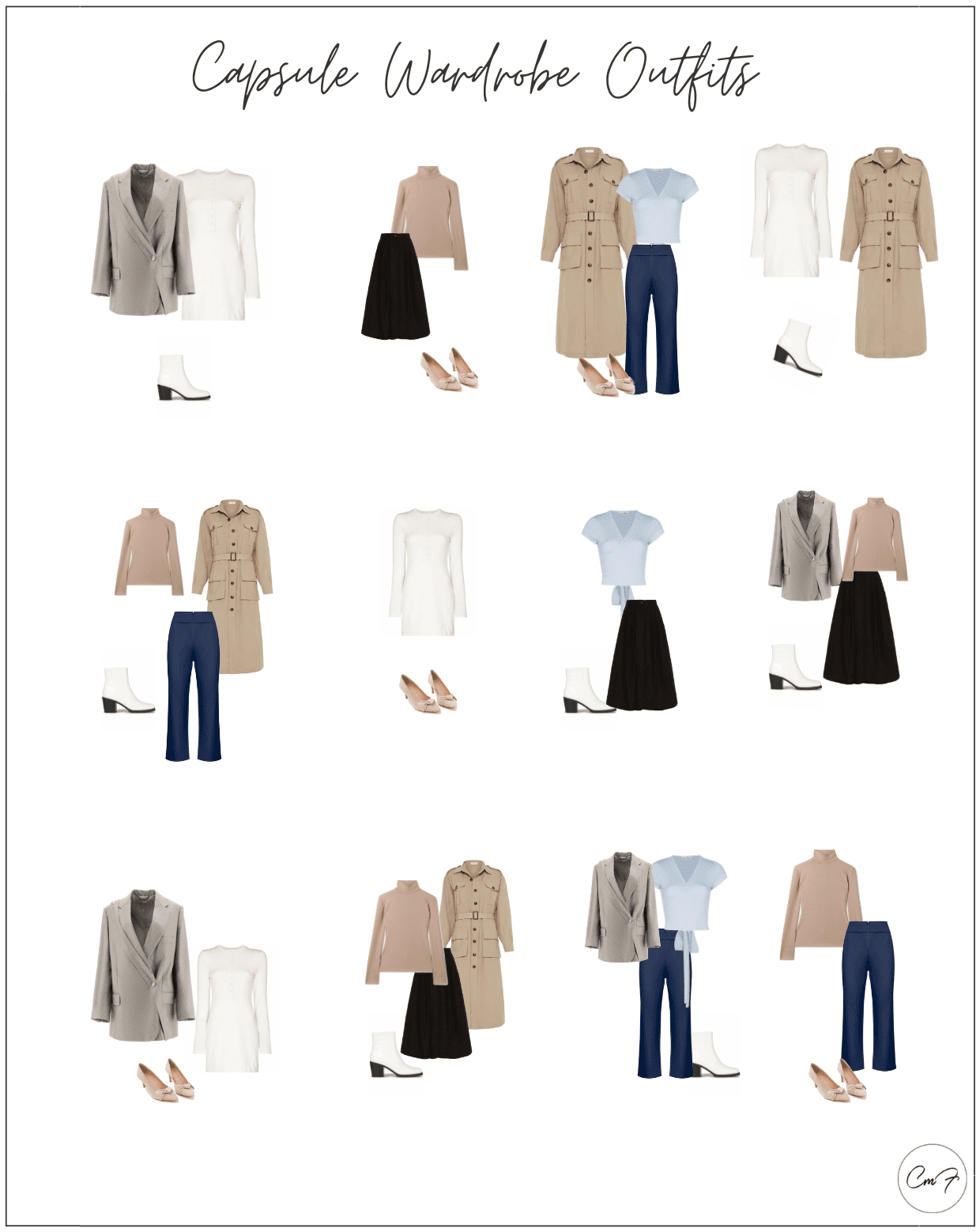outfits with a capsule wardrobe