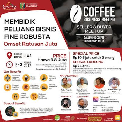 Menggali Peluang Pasar Fine Robusta Lampung di Coffee Business Meeting