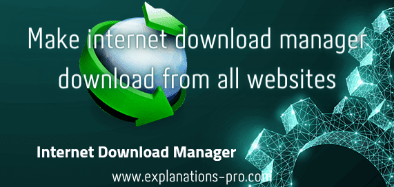Make internet download manager download from all websites