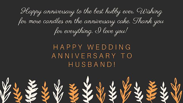 happy anniversary to husband