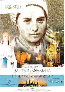 30-XI-19, las reliquias de santa Bernardita de Lourdes en nuestra parroquia