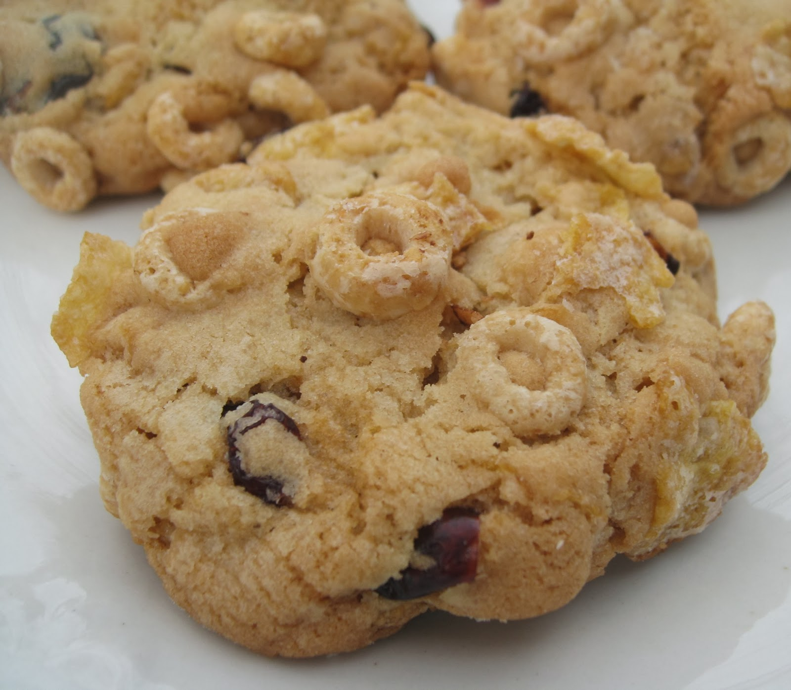 Cereal, Cranberry And Oatmeal Cookies