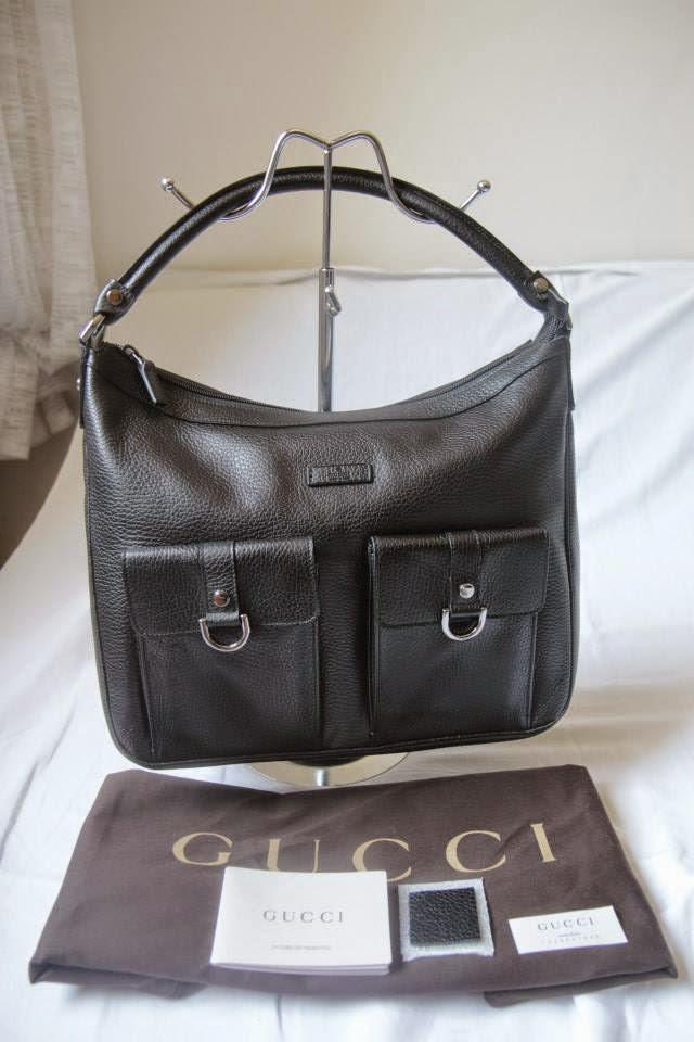 3de58d944 Gucci Abbey D-Ring Leather Hobo Shoulder Bag-Black *SALE*