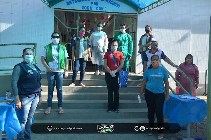 Secretaria de Saúde e Vigilância Sanitária acompanharam entrega de Cestas básicas para alunos da Rede Estadual de Ensino