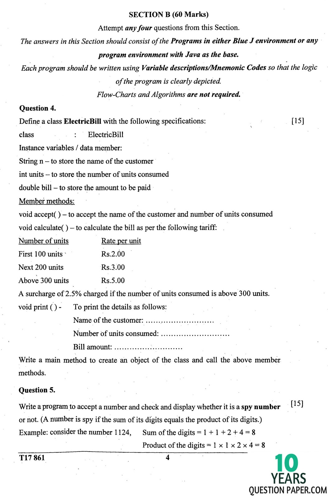 icse 2017 class 10th computer application question paper