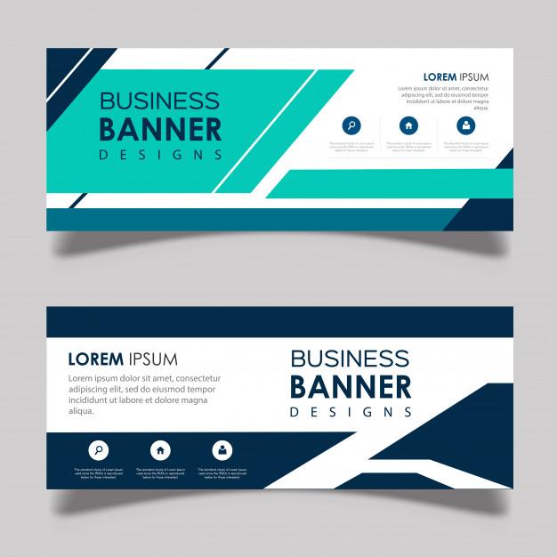 Abstract Vector Banner Designs Free Vector
