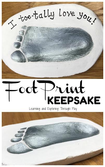 I Toetally Love You Foot Print Keepsake