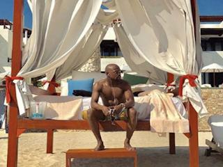 Floyd Mayweather visitó Cancún