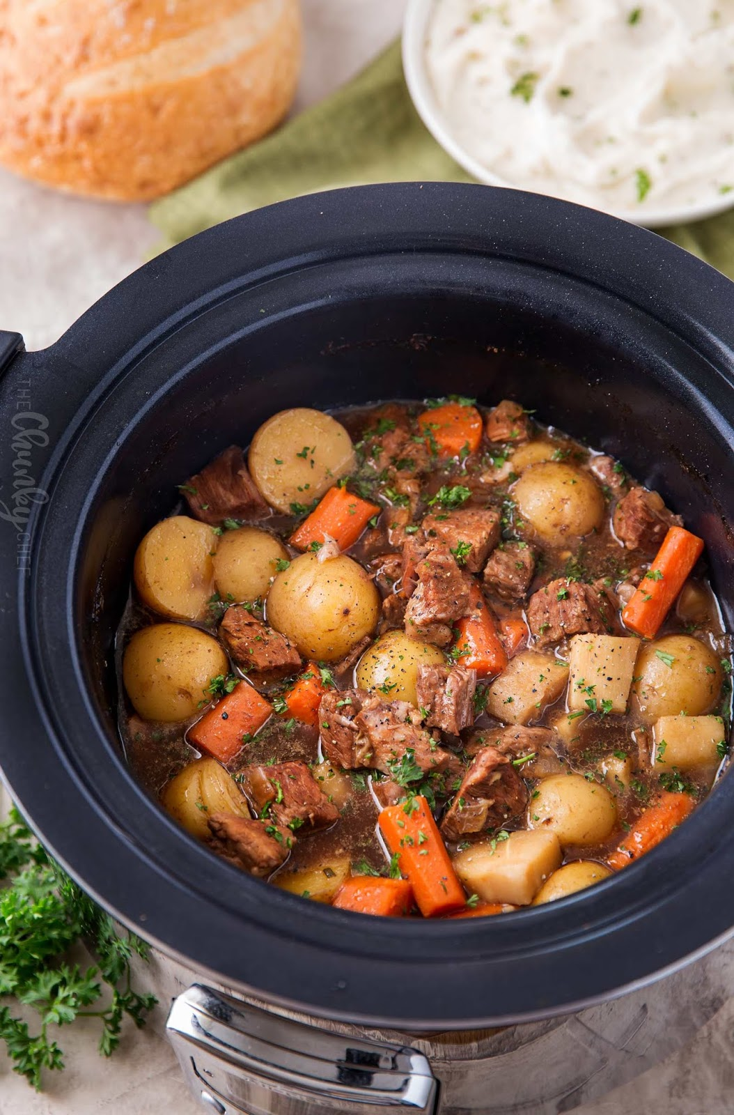 BEER AND HORSERADISH SLOW COOKER BEEF STEW #cooker #beef #meals #healthydinner #familydinner