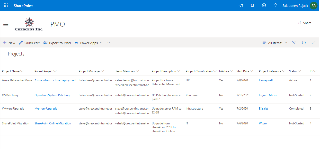 update sharepoint online list items from csv