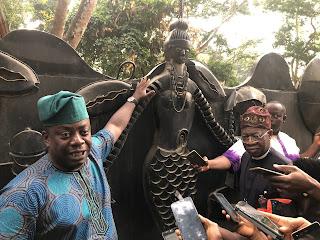 Lai Mohammed Visit Osun-Osogbo Scared Grove In Oshogbo (Photo)