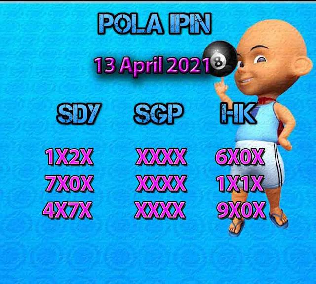 Syair HK Ipin 13 April 2021