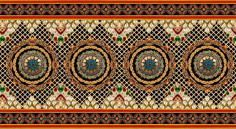 Textile Jwellery Border design PNG Transparent