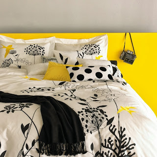 Blissliving Home Anis Duvet Cover Set, Yellow, Kin