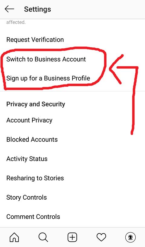 Daftar Business Account Instagram