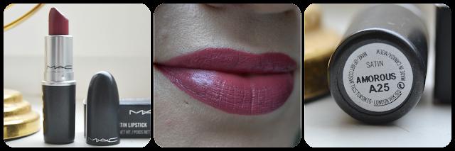 Mac, Cosmetics, Lipstick, Swatch, Satin,Amorous, Lippenstift, Tragebild,Lipswatch, Swatches