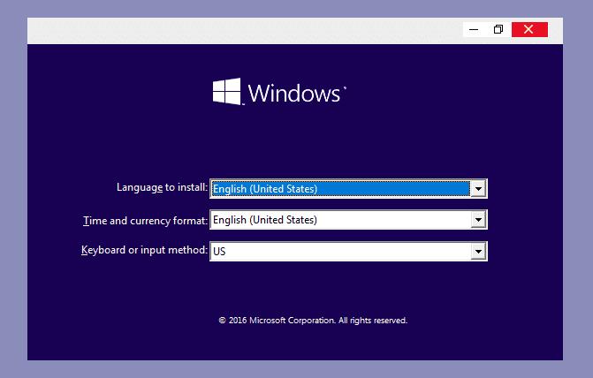Reinstall Windows Error