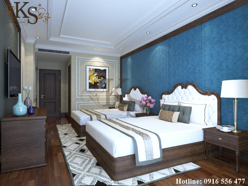 Hình ảnh: Sàn nhà được lát bằng chất liệu gỗ tạo nên sự ấm áp, tiện nghi. Các đồ dùng trong căn phòng đều đáp ứng được nhu cầu sử dụng từ phía khách hàng.