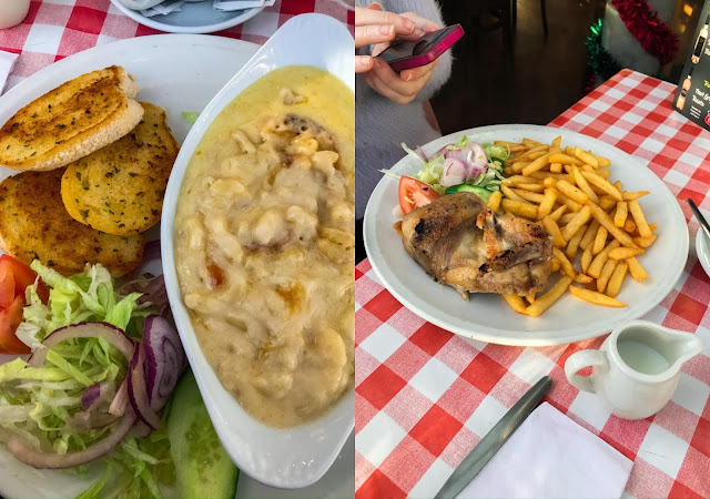 main dishes at a local restaurant