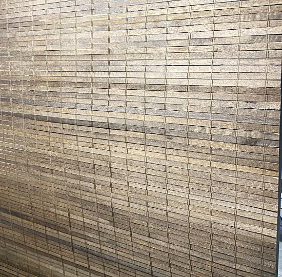 wooden slatted roller shade