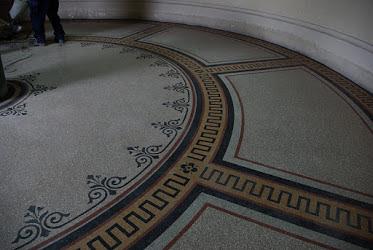 díszes terrazzo padló