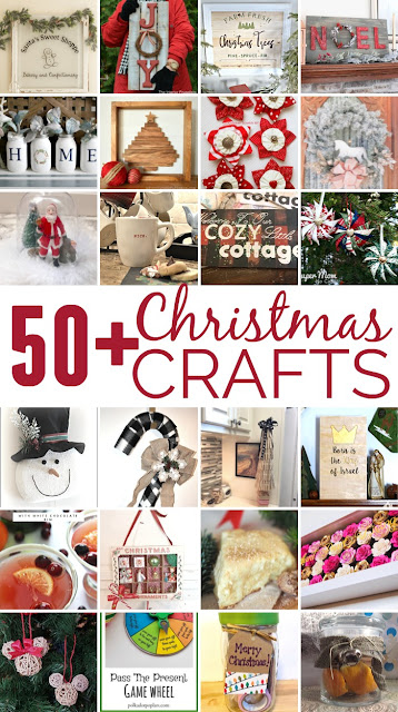 a collage of christmas craft projects