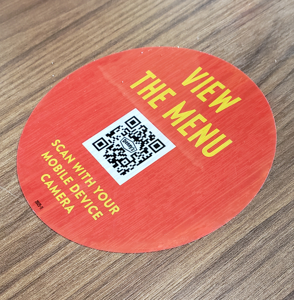 Denny's QR Code lets you view the menu from your mobile device.