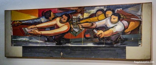David Alfaro Siqueiros, Estudo para um Mural na Universidade Nacional do México , no Museu Soumaya