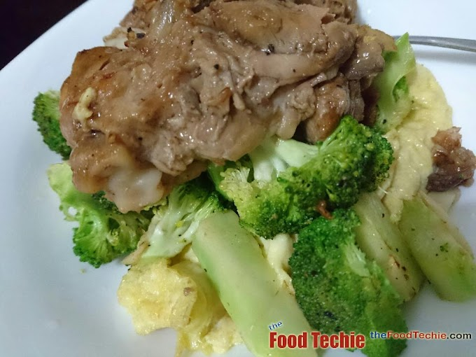 Dinner Ideas - Chicken Adobo on a bed of Sautéed Broccoli