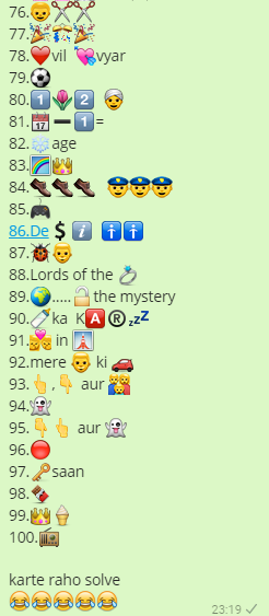 100 Movies Whatsapp quiz