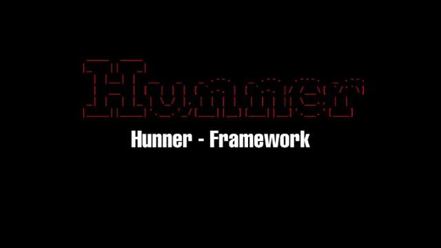 Hunner Framework For Web Apps Pentesting